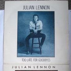 Discos de vinilo: JULIAN LENNON - TOO LATE FOR GOODBYES - SAY YOU´RE WRONG - VIRGIN 1984 Y 1985 - LOTE DE 2 SINGLES. Lote 36327789