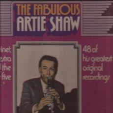 Discos de vinilo: LP-ARTIE SHAW THE FABULOUS-BOX SET-4 LP´S-READERS DIGEST-BIG BAND JAZZ 1938 1945. Lote 36327800