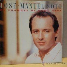 Discos de vinilo: JOSÉ MANUEL SOTO. ME ENAMORÉ DE UNOS OJOS. LP 1990. SELLO EPIC. ***/***. Lote 36337743