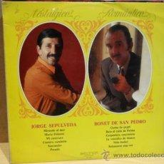 Discos de vinilo: JORGE SEPÚLVEDA - BONET DE SAN PEDRO. NOSTÁLGICOS ROMÁNTICOS. LP 1972. SELLO BELTER ***/***.. Lote 36338215