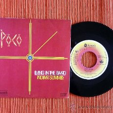 Discos de vinilo: POCO - LIVING IN THE BAND / INDIAN SUMMER - SINGLE VINILO. Lote 36340107