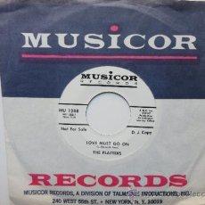 Disques de vinyle: THE PLATTERS LOVE MUST GO ON SINGLE USA PROMO (D.J.COPY) 1968.ULTRA RARE.. Lote 36351483