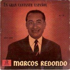 Discos de vinilo: EP BSOE 4095 UN GRAN CANTANTE ESPAÑOL Nº 2 MARCOS REDONDO EL DIVO LA LINDA TAPADA. Lote 36347201