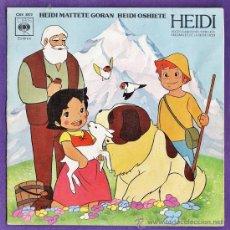 Discos de vinilo: SINGLE - HEIDI - ED. CBS - VER FOTO ADICIONAL - AÑO 1975 - RD. Lote 36352505