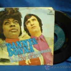 Discos de vinil: - DANNY & DONNA - EL VALS DE LAS MARIPOSAS / DREAMS LIKE MINE - COLUMBIA 1971. Lote 36564869