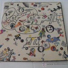 Discos de vinilo: LED ZEPPELIN III LP MADE IN SPAIN MATRIX SIN VINILO SOLO TAPA. Lote 36367593