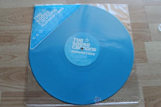 THE LOOSE CANNONS SUPERSTARS - DISCO PROMOCIONAL VINILO AZUL (Música - Discos de Vinilo - EPs - Disco y Dance)