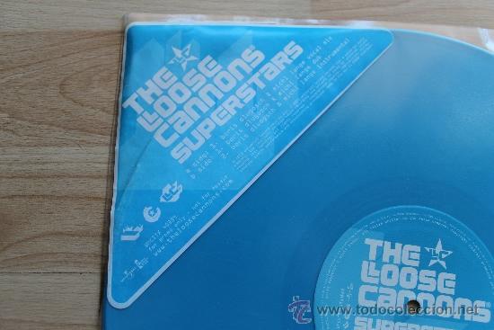 Discos de vinilo: THE LOOSE CANNONS SUPERSTARS - DISCO PROMOCIONAL VINILO AZUL - Foto 2 - 36368167