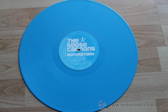 Discos de vinilo: THE LOOSE CANNONS SUPERSTARS - DISCO PROMOCIONAL VINILO AZUL - Foto 3 - 36368167