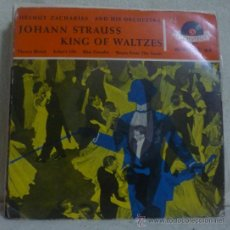 Discos de vinilo: HELMUT ZACHARIAS AND HIS ORCHESTRA, JOHANN STRAUSS - KING OF WALTZES - EP POLYDOR - ALEMANIA - 1958. Lote 36379193