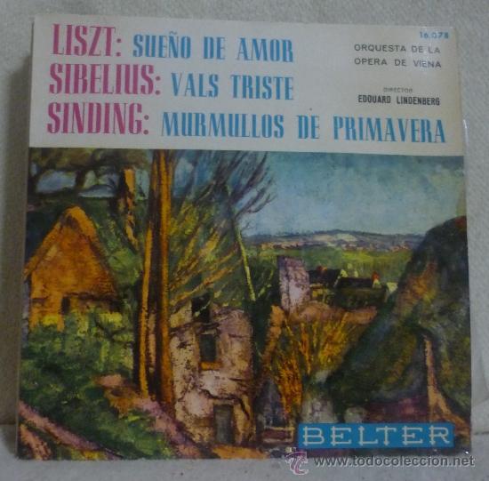 ORQUESTA DE LA ÓPERA DE VIENA, EDUARD LINDENBERG - EP BELTER - 16.078 - ESPAÑA 1964 - SC (Música - Discos de Vinilo - EPs - Clásica, Ópera, Zarzuela y Marchas)
