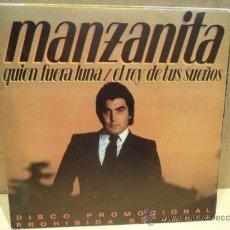 Discos de vinilo: MANZANITA. QUIÉN FUERA LUNA. SINGLE PROMOCIONAL 1982. SELLO CBS. IMPECABLE.****/****. Lote 36390825