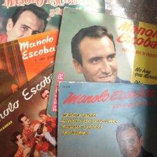 Discos de vinilo: MANOLO ESCOBAR - LOTE DE SINGLES - EP. Lote 36398084