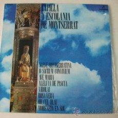 Discos de vinilo: CAPILLA Y ESCOLANIA DE MONTSERRAT – LP COLUMBIA CP 9104. Lote 36399142