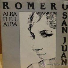 Discos de vinilo: ROMERO SANJUAN. ALBA DEL ALBA. SINGLE-PROMO / EMI - 1989 / LUJO. ****/****. Lote 36408218