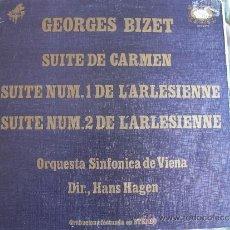 Discos de vinilo: LP - BIZET - SUITE DE CARMEN / SUITES DE LA ARLESIANA (SPAIN, DISCOS ZAFIRO 1973, PORTADA DOBLE). Lote 36416516