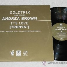 Discos de vinilo: ANDREA BROWN - IT'S LOVE TRIPPIN'. Lote 36420283