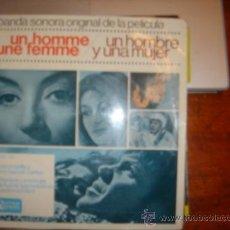Discos de vinilo: BANDA SONORA ORIGINAL DE LA PELICULA UN HOMME ET UNE FEMME. Lote 36442932