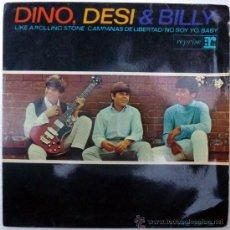 Discos de vinilo: DINO, DESI & BILLY. LIKE A ROLLIN STONE/ CHIMES OF FREEDOM/ IT AIN'T ME BABY/ 2-3. HISPAVOX, ES.1965. Lote 36445134