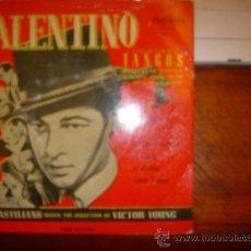 Discos de vinilo: VALENTINO. A COLLECTION OF TANGOS. EL TANGO DE VALENTINO. EL CHOCLO. EL RELICARIO. SANGRE Y ARENA. Lote 36447285