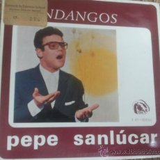 Discos de vinilo: PEPE SANLÚCAR FANDANGOS EP FIDIAS RARO FLAMENCO MINAS. Lote 36449770