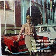 Discos de vinilo: FRANCISCO. TU PUERTA CERRADA/ CUANDO TE CONOCÍ/ EL GATO/ CUANDO TE QUIERO. BDC, ESP. 1969 EP. Lote 36453440