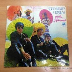 Discos de vinilo: LP EDITADO EN INGLATERRA SERGIO MENDES BRASIL 66 LOOK AROUND. Lote 36454484