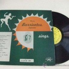 Discos de vinilo: AUTÓGRAFO Y DEDICATORIA DE HIPÓLITO LÁZARO EN LP BARRIENTOS E HIPÓLITO LÁZARO SINGS – SCALA 806. Lote 36459489