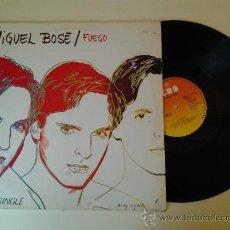 Discos de vinilo: MIGUEL BOSE FUEGO SUPERSINGLE POP DISEÑO DE LA PORTADA DE ANDY WARHOL. Lote 40234481