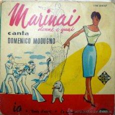 Discos de vinilo: DOMENICO MODUGNO: MARINAI, DONNE E GUAI/ VENNTU D'ESTATI/ IO/ LA SIGNORA A FIANCO, TELEFUNKEN. 1959 . Lote 36480700