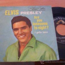 Discos de vinilo: ELVIS PRESLEY (ARE YOU LONESOME TO-NIGHT / I GOTTA KNOW) SINGLE USA RARE 47-7810 (VG+/NM) (EP9). Lote 36496507