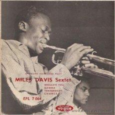 Discos de vinilo: EP-MILES DAVIS SEXTET-VOGUE 7064-FRANCE-SOLO PORTADA-JAZZ. Lote 36496365
