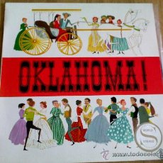 Discos de vinilo: OKLAHOMA. OVERTURE. OH WHAT A BEATIFUL MORNIN. THE SURREY WHIT THE FRINGE ON TOP. KANSAS CITY.. Lote 36500553