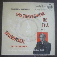 Discos de vinilo: ORQUESTA SINFÓNICA RCA - LAS TRAVESURAS DE TILL EULENSPIEGEL OP. 28 - EP RCA 1959 - SC1. Lote 36513216