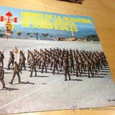 Discos de vinilo: HIMNO DE LA ACADEMIA GENERAL BÁSICA DE SUBOFICIALES. SINGLE BELTER AÑO 1978. Lote 36517485