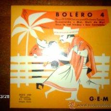 Discos de vinilo: DENO DESTERO ET SON GRAND ORCHESTRE TYPIQUE - BOLERO 4 - ESMERALDA + 3. Lote 36537122