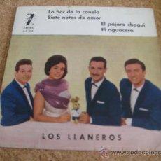 Discos de vinilo: LOS LLANEROS - EP LA FLOR DE LA CANELA + 3. Lote 36525625