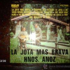 Discos de vinilo: HERMANOS ANOZ - LA JOTA MAS BRAVA . Lote 36555911