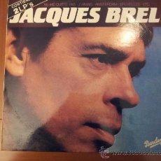 Discos de vinilo: JACQUES BREL -- DOBLE ALBUM -- MÁS DE 20 CANCIONES : NE ME QUITTE PAS, JÁMAIS, AMSTERDAM, BRUXELLES. Lote 36559900