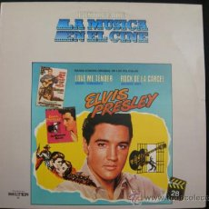 Discos de vinilo: LP ELVIS PRESLEY // BANDA SONORA ORIGINAL DE LAS PELICULAS LOVE ME TENDER Y ROCK DE LA CARCEL. Lote 36680152