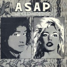 Discos de vinilo: A.S.A.P. / BABY, WE'RE GONNA LOVE TONIGHT (SINGLE PROMO 1993). Lote 36553842