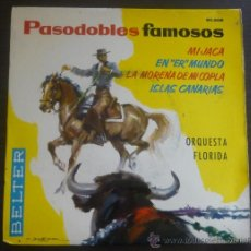 Discos de vinilo: ORQUESTA FLORIDA - PASODOBLES FAMOSOS - MI JACA +3 - EP BELTER 1961 - SC. Lote 36558400