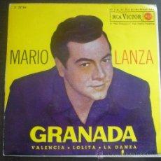 Discos de vinilo: MARIO LANZA - GRANADA - EP RCA VICTOR - 3-26184 - ESPAÑA 1962. Lote 36559477