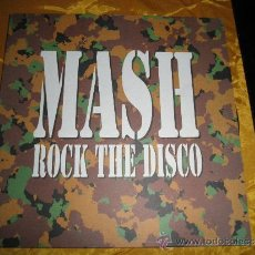 Discos de vinilo: MASK. ROCK THE DISCO. MAXI- SINGLE. BLANCO Y NEGRO. Lote 36578114