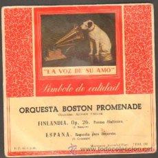Discos de vinilo: ORQUESTA BOSTON PROMENADE FINLANDIA, OP.26 ( SIBELIUS ) / ESPAÑA.RAPSODIA ( CHABRIER ) RF-6572. Lote 36580204