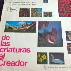 Discos de vinilo: DE LAS CRIATURAS AL CREADOR. FILMINAS DON BOSCO SONORIZADAS, CENTRAL CATEQUISTA SALESIANA. Lote 36581880