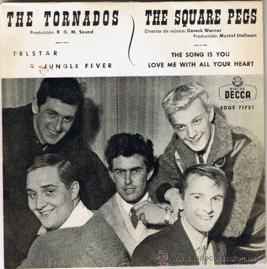 THE TORNADOS - THE SQUARE PEGS - CANCIONES EN DESCRIPCIÓN - FOTO ADICIONAL (Música - Discos - Singles Vinilo - Pop - Rock Internacional de los 50 y 60)