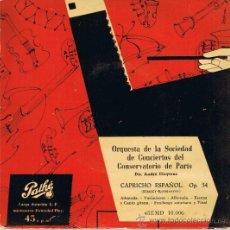 Discos de vinilo: ORQUESTA SOCIEDAD CONCIERTOS DEL CONSEVATORIO DE PARIS - CAPRICHO ESPAÑOL - OP 34 - FOTO ADICIONAL. Lote 36596132