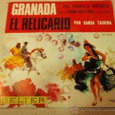Discos de vinilo: ORQUESTA SINFONICA Y ORQUESTA FLORIDA PALILLOS: EMMA MALERAS Y SU CONJUNTO ( GRANADA - EL RELICARIO). Lote 36598595