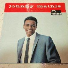 Discos de vinilo: JOHNNY MATHIS (A CERTAIN SMILE - LET IT RAIN - TEACHER, TEACHER - I'VE GROWN ACCUSTOMED TO HER FACE). Lote 36598670